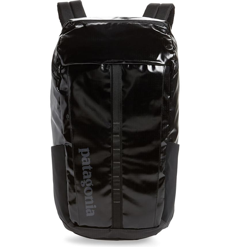 Patagonia Black Hole 25-Litre Weather Resistant Backpack. Image via Nordstrom.