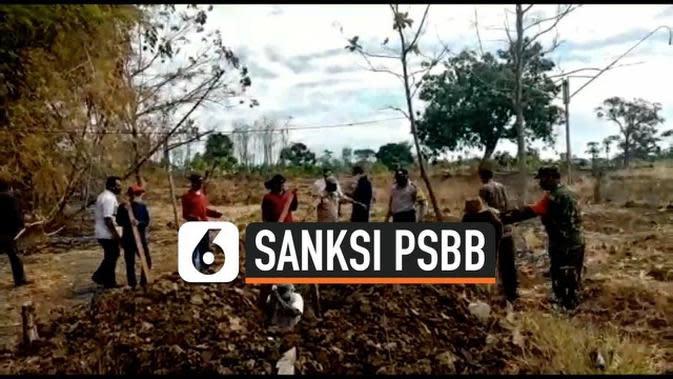 VIDEO: Terjaring Razia Masker Dihukum Menggali Kuburan Jenazah Covid-19