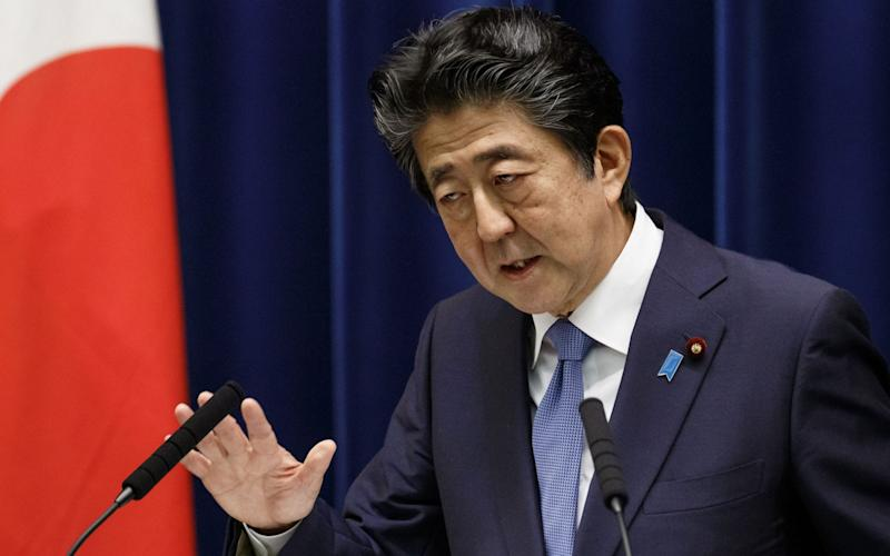 Prime Minister Shinzo Abe has been forced to delay his plans for female empowerment by a decade -  Rodrigo Reyes Marin/POOL/EPA-EFE/Shutterstock/Shutterstock