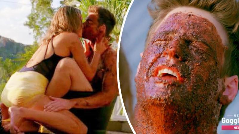 A screenshot of Matt Agnew and Kristen Czyszek on a single date on season seven of The Bachelor Australia.