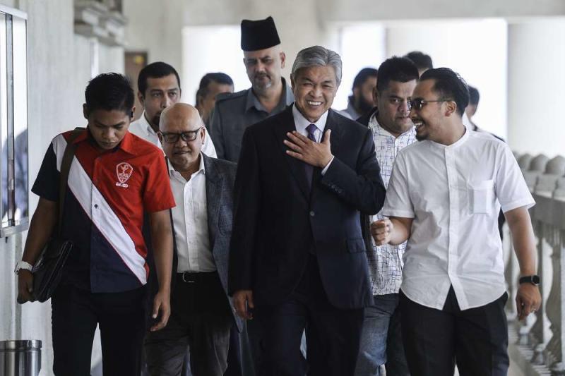 Datuk Seri Ahmad Zahid Hamidi is seen at the Kuala Lumpur High Court December 10, 2019. ― Picture by Miera Zulyana