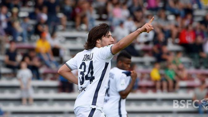 Sandro Tonali, gelandang Brescia. (Bola.com/Dok. Brescia)