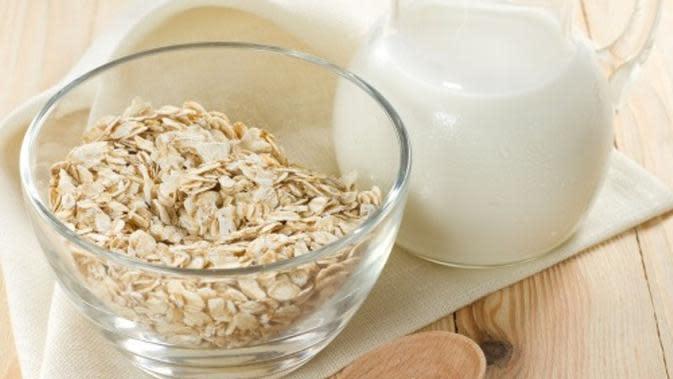 Masker oatmeal dan susu