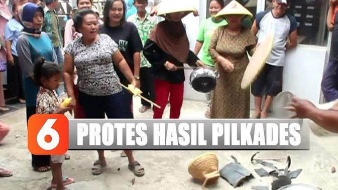Diduga Curang, Ibu-Ibu Protes Hasil Pilkades di Cirebon