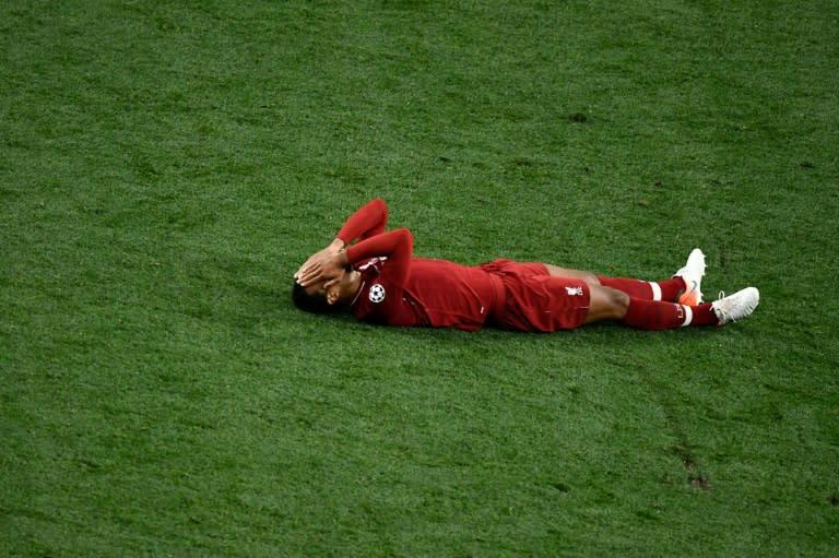 Virgil van Dijk was overcome as Liverpool won the Champions League in June