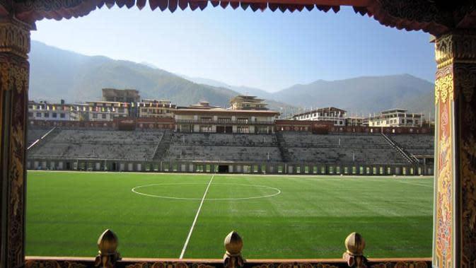 Stadion terindah di Asia, Changlimithang Stadium (Bhutan). (Bola.com/Dok. AFC)