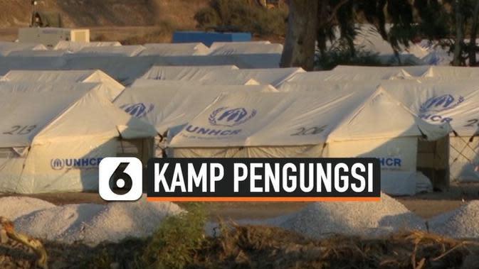 VIDEO: Tentara Yunani Dirikan Kamp untuk Ribuan Pengungsi