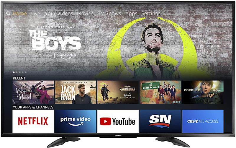 Save on this Toshiba 55-inch 4K Ultra HD Smart LED TV with HDR - Fire TV Edition.