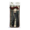 Classic Canes 可摺式手杖連袋套裝 - 酒紅木柄