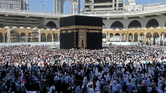 Perbedaan Haji dan Umroh. (Abdulghani BASHEER/AFP)