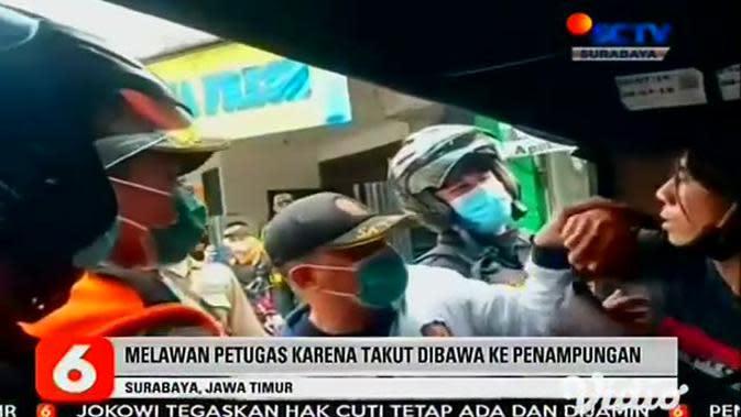VIDEO: Klarifikasi Satpol PP Surabaya Terkait Petugas Tarik Pelanggar Protokol Kesehatan