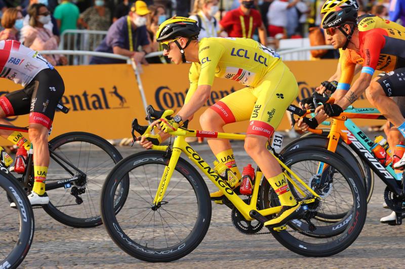 UAE Team Emirates' Tadej Pogacar won the 2020 Tour de France on a Campagnolo-equipped Colnago