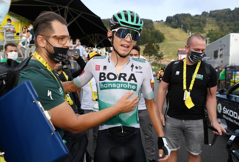 Germany's Kämna wins Tour de France 16th stage, Roglic retains lead