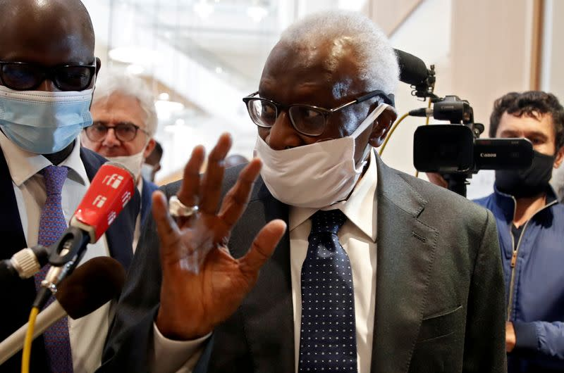 Diack tells court he slowed handling of Russian doping cases to save sponsorship