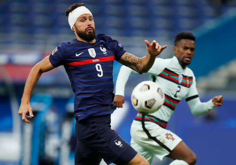 France and Portugal in goalless stalemate
