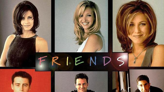 Bintang Serial Friends: Courteney Cox, Lisa Kudrow, Jennifer Aniston, Matt LeBlanc, Matthew Perry, dan David Schwimmer. Foto: richestlifestyle.com