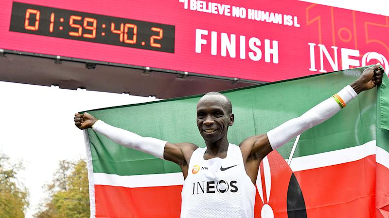Kipchoge's marathon feat doesn't count as an official record.