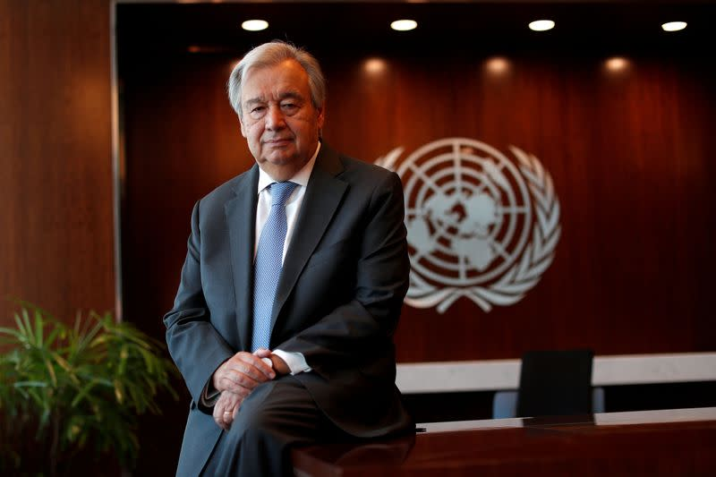 U.N. chief urges increase in funding for IMF to help pandemic-hit countries