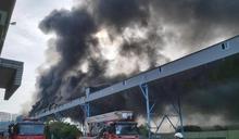台中火力發電廠驚傳火警 疑輸送帶起火濃煙滿天