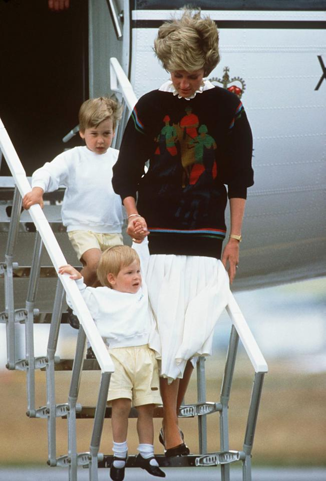 """<p>It is tradition that those in direct succession to the throne <a href=""""https://www.popsugar.com/celebrity/Prince-William-Prince-George-Breaking-Royal-Protocol-43687712"""" class=""""ga-track"""" data-ga-category=""""Related"""" data-ga-label=""""https://www.popsugar.com/celebrity/Prince-William-Prince-George-Breaking-Royal-Protocol-43687712"""" data-ga-action=""""In-Line Links"""">do not take the same flight together</a>, just in case the worst happens and two heirs are lost. However, when William and Harry were young, Diana insisted that she and Charles travel with their sons in order to have as normal a family experience as possible. Now when William and Kate fly, they are <a href=""""https://www.popsugar.co.uk/celebrity/George-Charlotte-Looking-Out-Plane-Windows-Pictures-43768104"""" target=""""_blank"""" class=""""ga-track"""" data-ga-category=""""Related"""" data-ga-label=""""https://www.popsugar.com/celebrity/George-Charlotte-Looking-Out-Plane-Windows-Pictures-43768104"""" data-ga-action=""""In-Line Links"""">accompanied by their children</a>.</p>"""