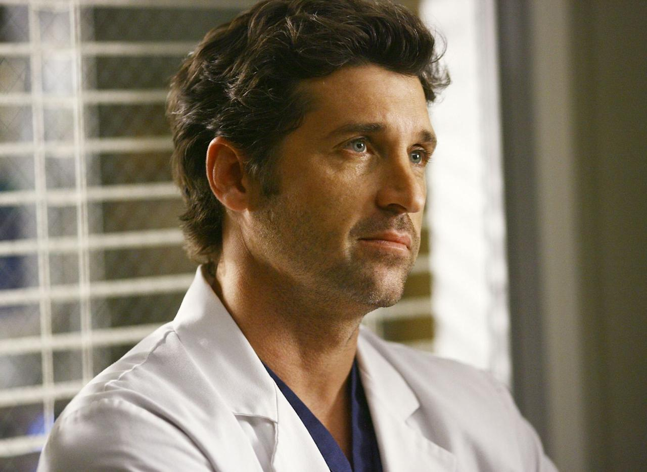 """<p>Perhaps one of the most devastating character exits to date, the death of Dr. Derek Shepherd — a.k.a. """"McDreamy"""" — sent shock waves out among <em><a href=""""https://www.amazon.com/gp/video/detail/B003TTH4IU/ref=atv_dp_season_select_s1?tag=syn-yahoo-20&ascsubtag=%5Bartid%7C10055.g.32160800%5Bsrc%7Cyahoo-us"""" target=""""_blank"""">Grey's Anatomy</a></em><em></em> fans when he was abruptly killed off in 2015. The fan-favorite character was announced as brain-dead after a tragic car accident in season 11, widowing his wife Meredith Grey in a tear-inducing episode that left viewers mourning for many seasons afterward. </p><p><strong>RELATED: </strong><a href=""""https://www.goodhousekeeping.com/life/entertainment/g26340817/greys-anatomy-cast-characters-death/"""" target=""""_blank"""">All the 'Grey's Anatomy' Characters Who Have Been Killed Off (In Case You Forgot)</a></p>"""