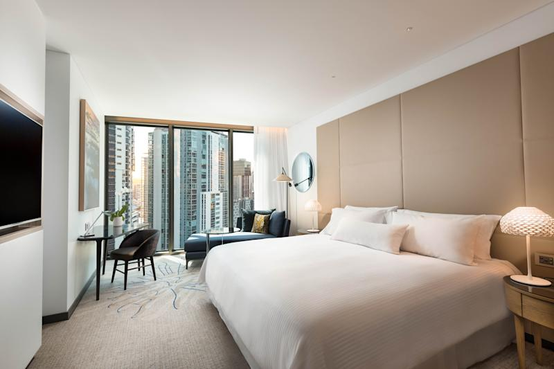 Get ready for the best snooze of your life in one of the The Westin's Heavenly Beds, which can retail for $6,000AUD. Photo: Supplied