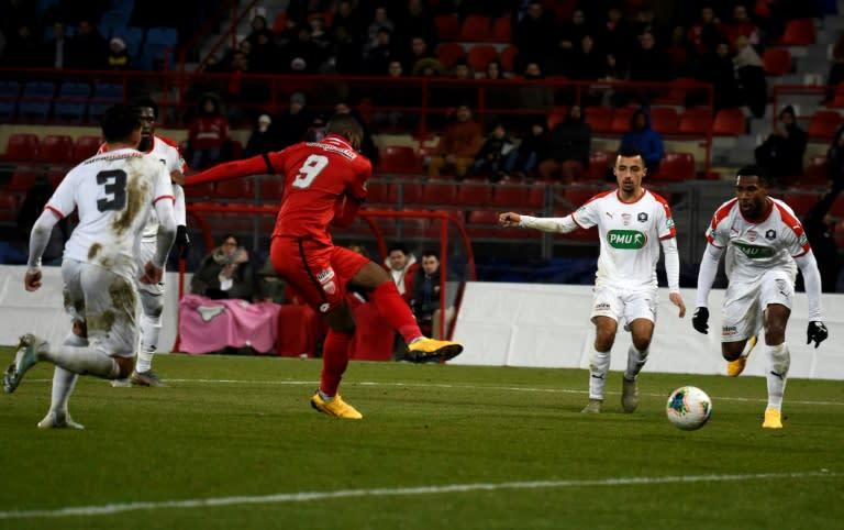 Dijon's English forward Stephy Mavididi came through the youth ranks at Arsenal