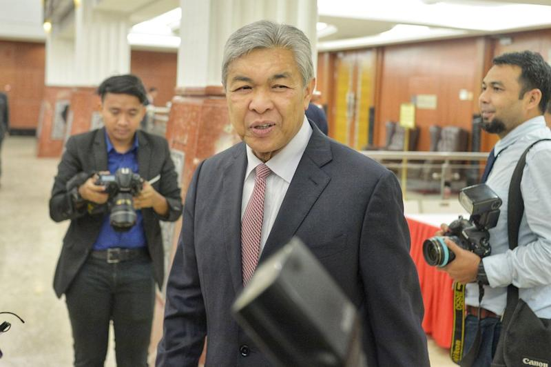 Datuk Seri Ahmad Zahid Hamidi had personally instructed for the liquidation of almost RM18 million from the Yayasan Akalbudi foundation's fixed deposit accounts to be issued to a law firm by way of banker's cheques, the High Court was told today. — Picture by Shafwan Zaidon