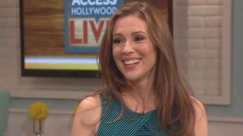 Alyssa Milano visits Access Hollywood Live, May 2013 -- Access Hollywood