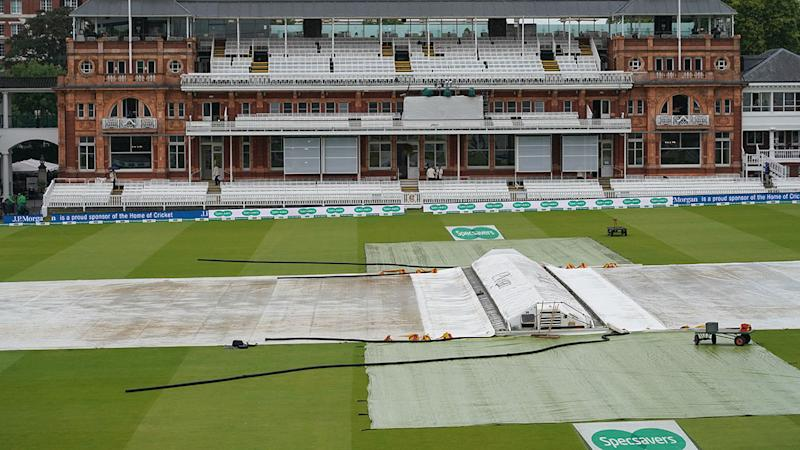 The covers remained on for most of the day. (Photo by Jed Leicester/Getty Images)