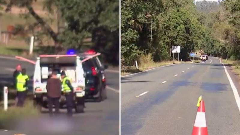 Police were called to the roadside, where a man appeared to have been hit by a car in his sleep. Source: WIN News Sunshine Coast.