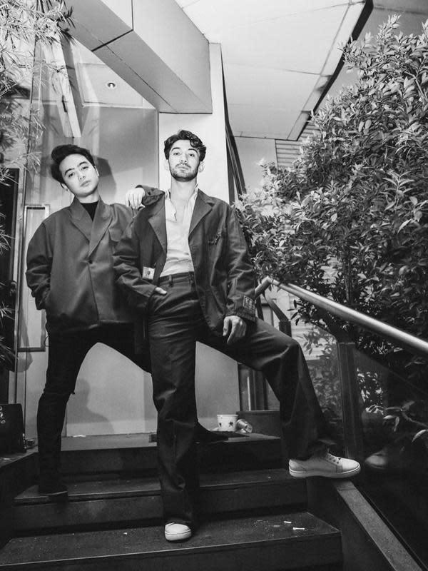 Reza Rahadian dan Arya Ibrahim (Sumber: Instagram/aryaibrahims)