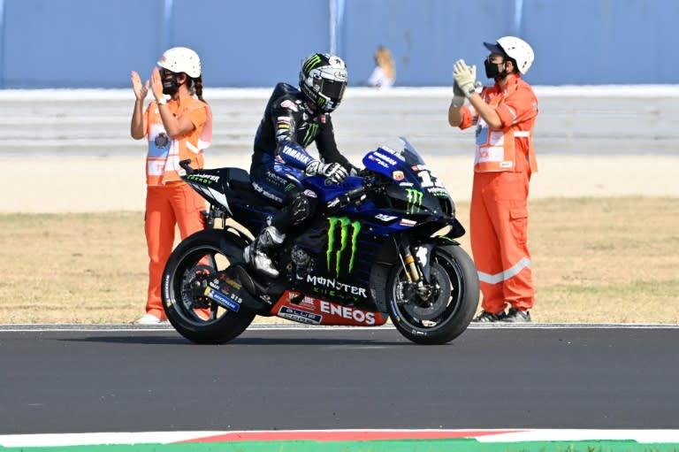 Vinales cruises away to win Emilia-Romagna MotoGP