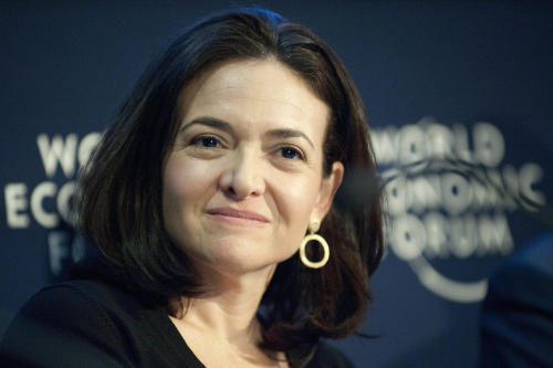 FILE- In this Friday, Jan. 28, 2011, file photo, Sheryl Sandberg, Chief Operating Officer of the social network service Facebook, speaks during a panel session at the 41st annual meeting of the World Economic Forum, WEF, in Davos, Switzerland. Facebook announced Monday, June 25, 2012, it has named its No. 2 executive, Chief Operating Officer Sheryl Sandberg, to its board of directors. Sandberg, who joined Facebook from Google in 2008, is the first woman on Facebook's board of directors. (AP Photo/Keystone, Laurent Gillieron, File)
