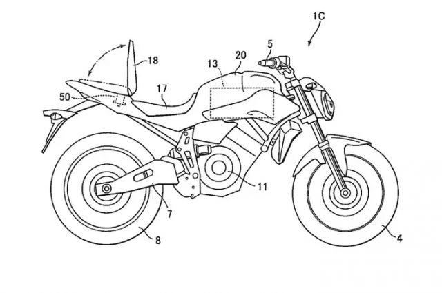 yamaha patent suggests a production electric motorcycle is