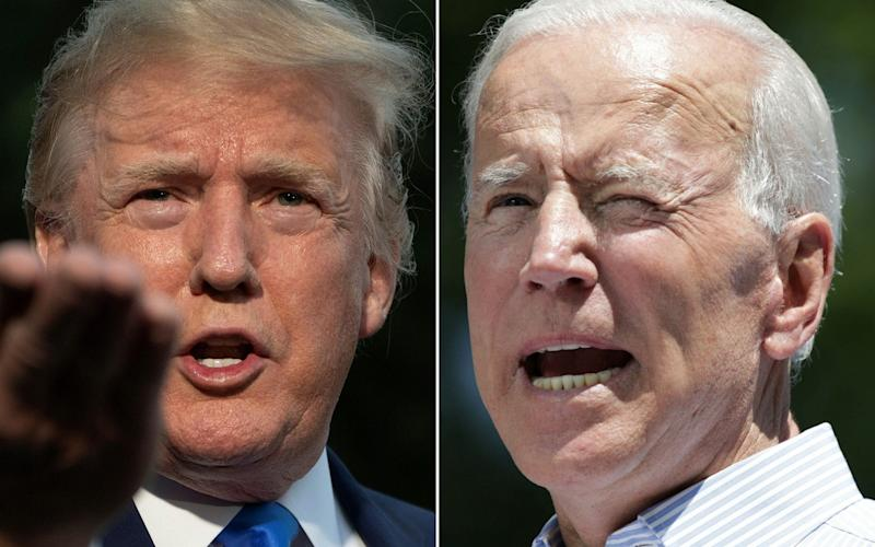 Donald Trump and Joe Biden will face each other in the election on November 3 - JIM WATSON,DOMINICK REUTER/AFP via Getty Images