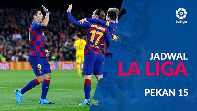 VIDEO: Jadwal La Liga Pekan 15, Big Match Atletico Madrid Vs Barcelona