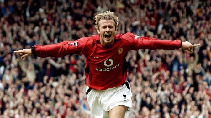 David Beckham (37,5 juta euro) - David Beckham dilepas Manchester United ke Real Madrid pada awal musim 2003-2004 dengan harga transfer 37,5 juta euro. (AFP/Paul Barker)