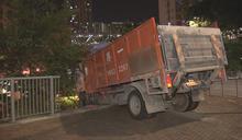 葵涌貨車失事撞欄司機傷