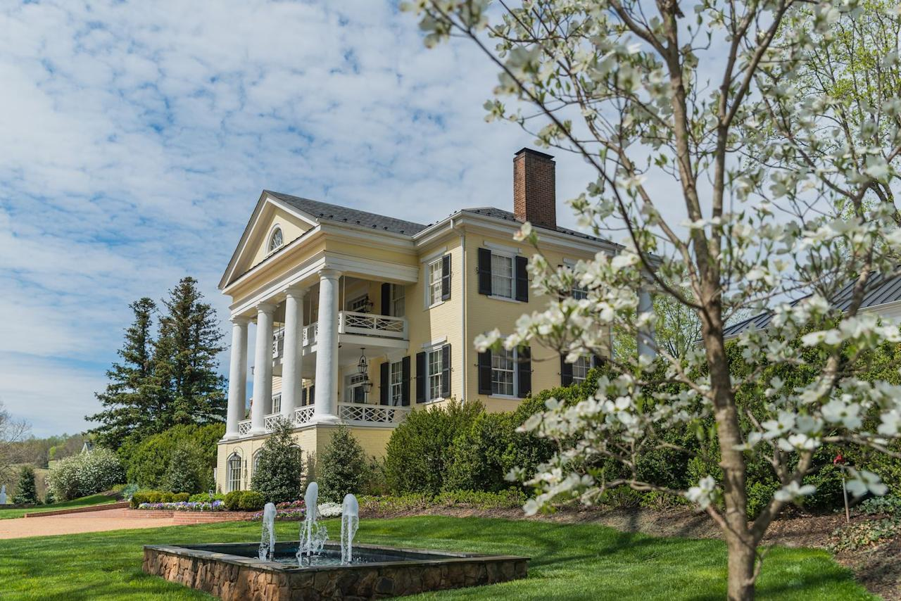 "<p>This historic inn in the Virginian countryside is the idyllic place to spend your workdays and weekends. <a href=""https://www.innatwillowgrove.com/"" target=""_blank"">Inn at Willow Grove</a> offers plenty of options for those seeking a getaway without leaving their computers at home, as half of the property's guest rooms, suites, and private cottages have work areas. The gorgeous library can also be booked as a private office for the day when you need the space. Guests can also enjoy an en plein air office near Frog Fountain or the patio when jonesing for some fresh air.</p><p>The inn also features a saltwater pool, award-winning dining, and a luxurious spa for when you need help unwinding after a day of Zoom calls. <em><br></em></p>"