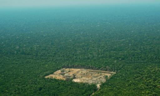 An aerial view from 2017 of deforestation in the Western Amazon region of Brazil, whose President Jair Bolsonaro is considering withdrawing from the Paris climate accord to curb global warming