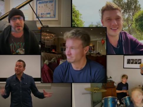 The Backstreet Boys reunite for a living room concert arranged by Elton John: Fox Television