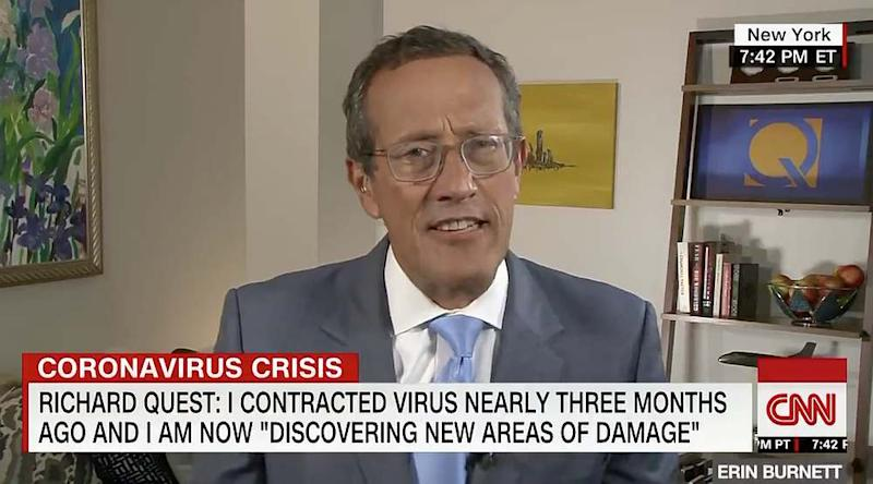 Quest says he has days when he feels like the virus has returned to his body despite reassurances from his doctors. — Screengrab from Twitter/cnni