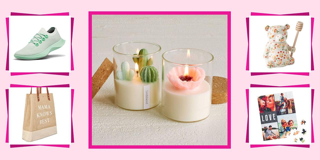 """<p>Normally, to celebrate Mom's birthday, you'd take her out to a fancy dinner, treat her to a relaxing spa day, or spend hours at the mall looking for the *<a href=""""https://www.seventeen.com/fashion/style-advice/tips/g935/mothers-day-gifts/"""" target=""""_blank"""">perfect* present</a>. This year, all of those options are off the table (thanks, coronavirus 😒) so you're going to have to <a href=""""//www.seventeen.com/life/friends-family/how-to/a20341/diy-mothers-day-gifts/"""" target=""""_blank"""">get really creative</a> with your gift. You'll have to shop and shop and shop until you find something super heartfelt, that will still arrive safely on her doorstep in 6 business days or less. Or, you know, you could just look at this list. </p><p>Even if you can't give Mom her birthday gift in person, these thoughtful ideas will still show her how much you care. Browse kitchy cookware, stylish closet staples, fun DIYs, and super sweet <a href=""""//www.seventeen.com/life/friends-family/g25991062/personalized-gifts/"""" target=""""_blank"""">personalized presents</a> guaranteed to make her cry happy mom tears.</p>"""