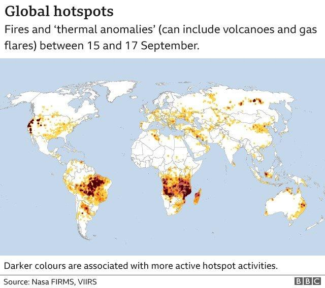 A map of global hot spots viewed from space