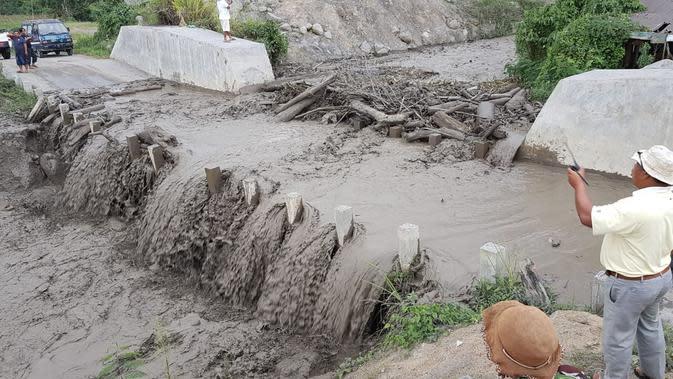 BPBD Karo terus memantau terkait banjir lahar dingin Gunung Sinabung