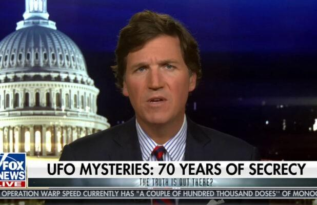 Tucker Carlson: It's 'Outrageous' the Government Is Still Hiding Evidence of UFOs (Video)
