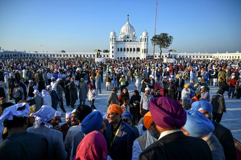 The Shrine of Baba Guru Nanak in Kartarpur, Pakistan, is one of Sikhism's holiest sites