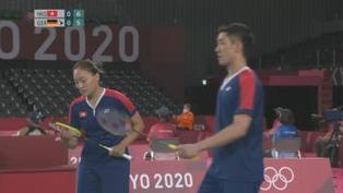 羽毛球混雙分組賽 鄧俊文謝影雪成功躋身八強