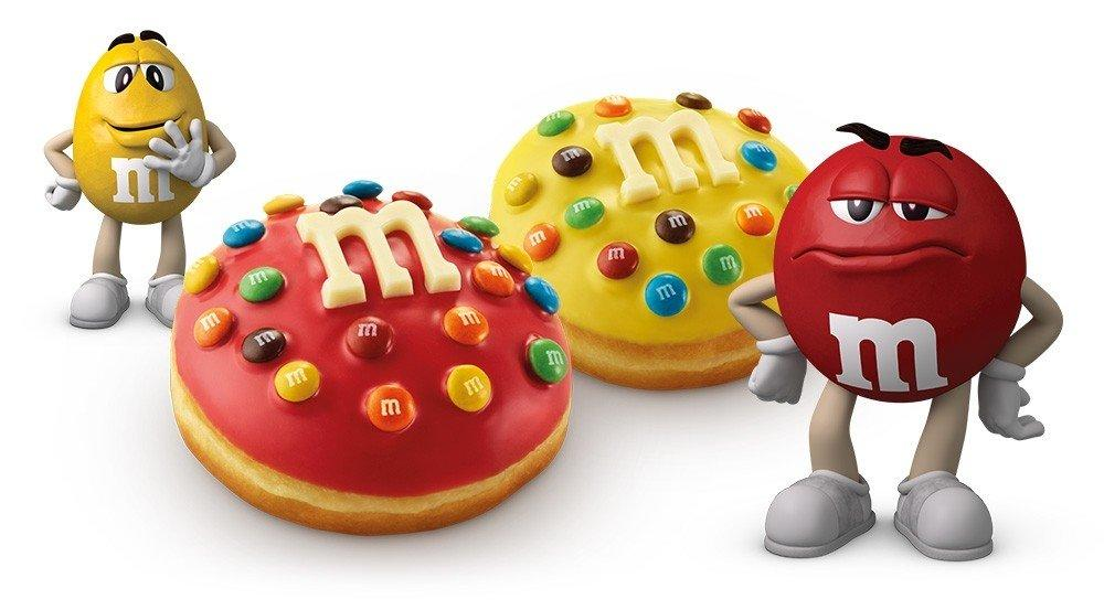 Krispy Kreme has introduced doughnuts topped with M&Ms for a limited time. Photo: Krispy Kreme